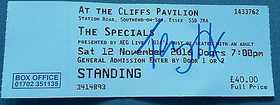 the specials signed ticket southend 12/11/16 ..TERRY HALL