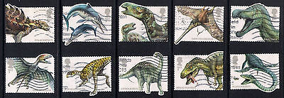 Gb 2013 Dinosaurs Multi Issue Commemorative Stamps Good Used Off Paper