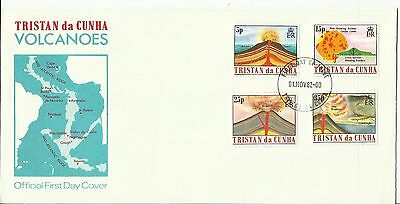 FDC Tristan Da Cunha, Volcanoes; 1982 signed by the Governor on the reverse