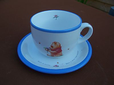 From The Disney Store Large White Ceramic Winnie The Pooh Cup And Plate