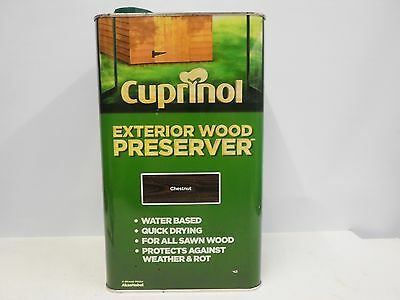 Cuprinol Exterior Wood Preserver Chestnut 5L - Protect against Weather & Rot