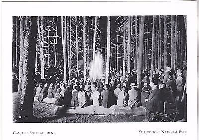 "*Postcard-""Campfire Entertainment"" @ Lodge/ *Yellowstone National Park (A257-4)"