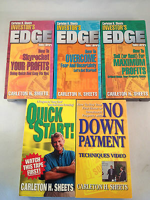 5 Assorted VHS' By Carleton H. Sheets on Real Estate Investing