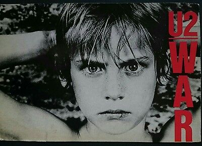 Original U2 War Promo Postcard Unused Unposted Condition