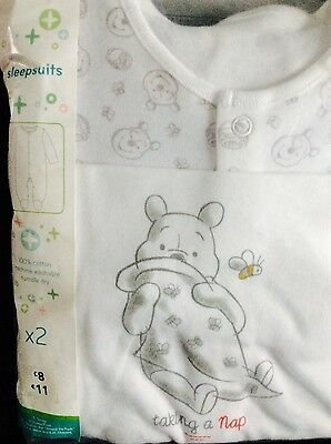Brand new pack of 2 Winnie the Pooh sleepsuits, age 18-24 months