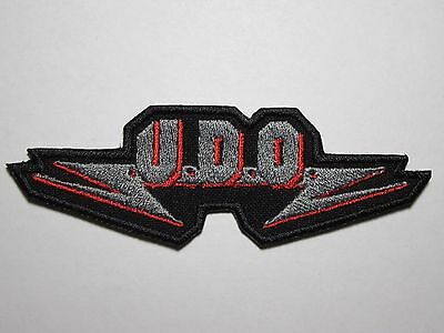 U.D.O. logo embroidered NEW patch heavy metal