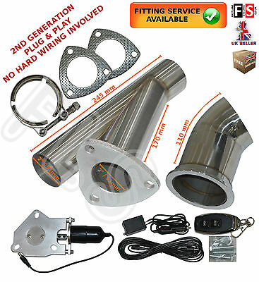"""2"""" Universal Stainless Electric Exhaust Valve Downpipe Remote Cutout Ecut System"""
