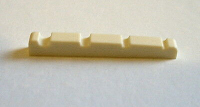 4 String Bass Guitar Nut Cream-Coloured - 38mm x 3.6 x 5.3 to 4mm UK