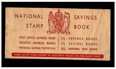 GB National Savings Stamp Book with 2 x 6d Stamps. 1950's. Used. #311