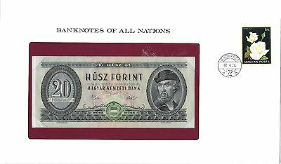 Banknotes of all Nations Hungary 20 Forint 1975 Pick #  169f Gem UNC.