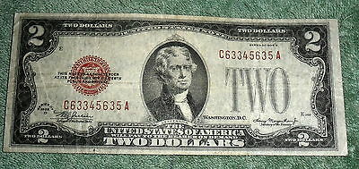 RFM 58232 United States 2 Dollars series of 1928 D Red VG Seal All paper money i