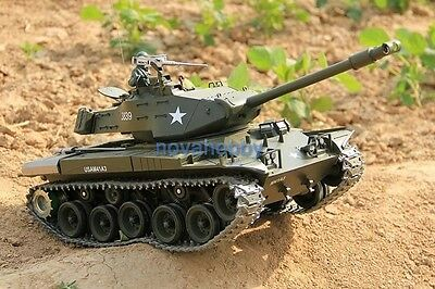 1/16 2.4G RC Henglong Smoke & Sound USA M41A3 Bulldog Tank Premier Version