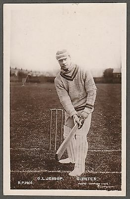 G.L. JESSOP (Gloucestershire CCC) RP postcard... The Rival Photographic Series