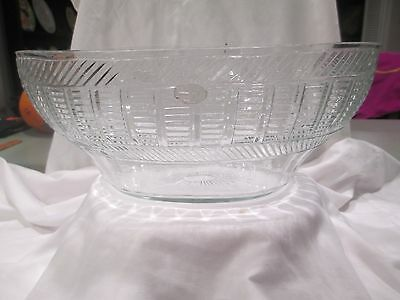 c1820 Anglo Irish / American Early Sandwich Glass Mold Blown & Cut Punch Bowl