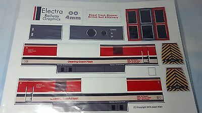 Electra Railway Graphics - Dapol OO Track Cleaner Overlay - BR RTC Livery