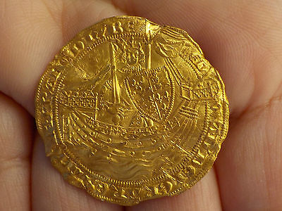 Rare Edward lll Gold Noble Metal Detecting Find