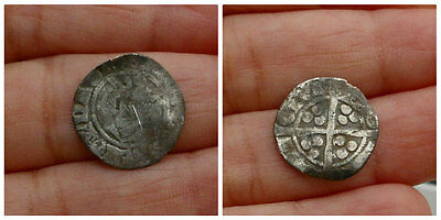 Edward Hammered Silver Penny Metal Detecting Find
