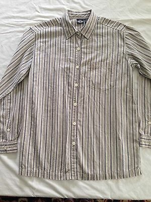 Dockers Women's Size M Long Sleeve Button Up Blouse Free Shipping