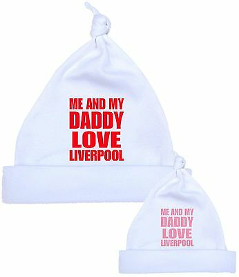 BabyPrem Me Dad Daddy Love LIVERPOOL Baby Cotton Clothes HAT Newborn to 12 m