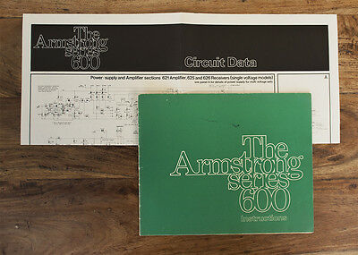 Vintage Armstrong 600 Series Amplifier Documentation