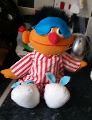 Sesame Street Bedtime Sleep And Snore Ernie From Jim Henson, Tyco 1996