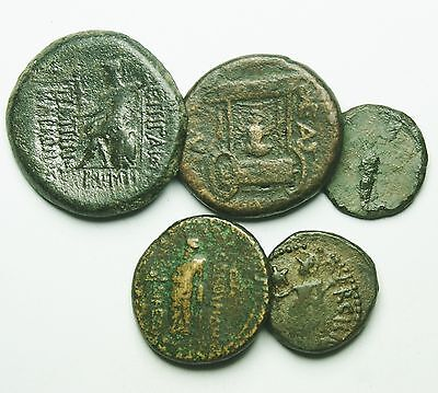 Interesting Selection Of 5 Roman Provincial Coins (800M)