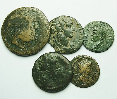 Interesting Selection Of 5 Roman Provincial Coins (804M)