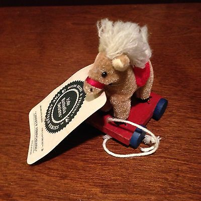 Boyds Artisan Series Giddyup Stringalong -Mini Pull Toy New With Tag