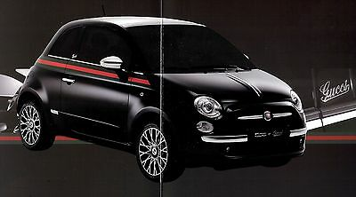 """2012 - FIAT 500 """"Gucci"""" - special edition - French sales brochure, prospekte"""