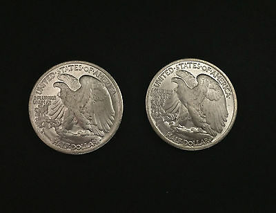 Double Tails Reverse Sided Walking Liberty Half Dollar 1943 Coin American Odd
