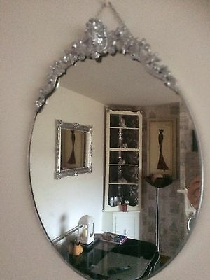 "Beautiful French Style Ornate Mirror 20"" X 15"""