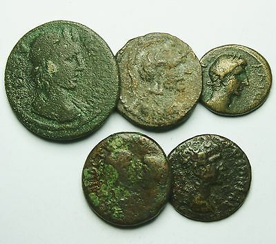Interesting Selection Of 5 Roman Provincial Coins (810M)
