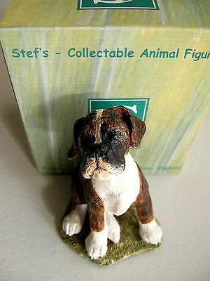 Boxer Puppy - By Stef Ottevanger - Hand Painted & Made In England