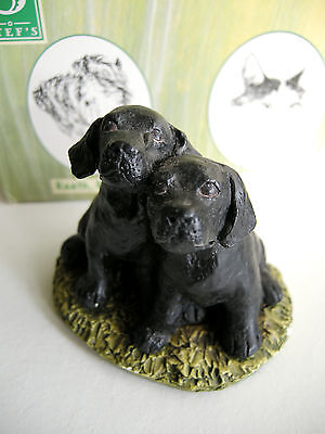 Black Labrador Puppies - By Stef Ottevanger - Hand Painted & Made In England