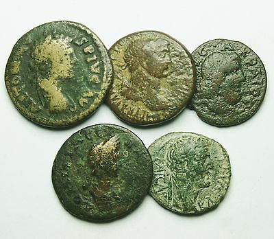 Interesting Selection Of 5 Roman Provincial Coins (812M)