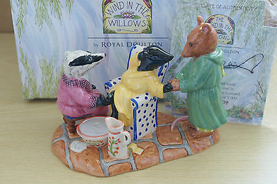 AS GOOD AS NEW BADGER RATTY MOLE  WIND IN THE WILLOWS ROYAL DOULTON mib WW7