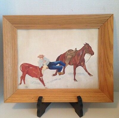 Hand Painted Cowboy On Horse