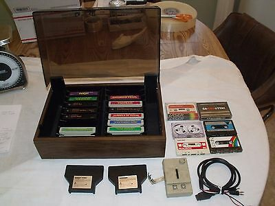 VINTAGE 15 GAMES LOT TEXAS INSTRUMENTS TI-99/4a COMPUTER CARTRIDGES AND MANUALS