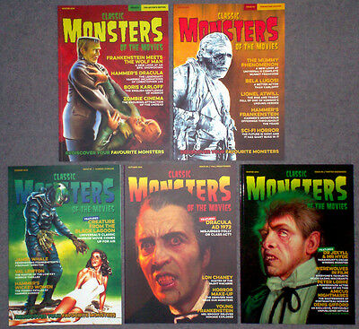 CLASSIC MONSTERS OF THE MOVIES 1 to 5 - mint, complete set