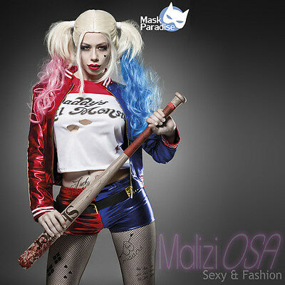 Costume Harley Quinn Suicide Squad travestimento Carnevale cosplay completo Sexy