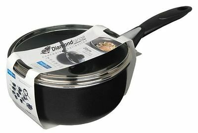 Pendeford Diamond Collection Non Stick Deep Sauce Pan Saucepan With Lid 20cm