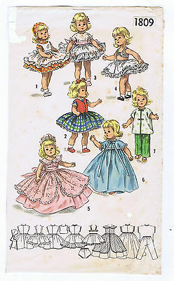 "1809A Vintage Mini-Doll Pattern - Size 10"" - Korean War 1955"