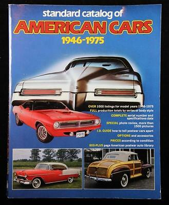 1987 Standard catalog of American Cars 1946-1975 EXCELLENT CONDITION 800 pages
