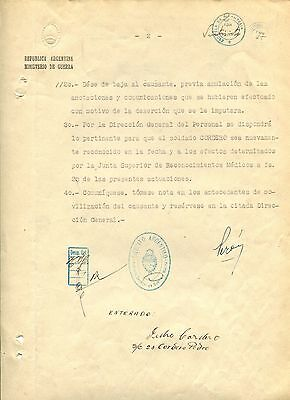 Juan Perón ARGENTINA autograph, typed letter signed