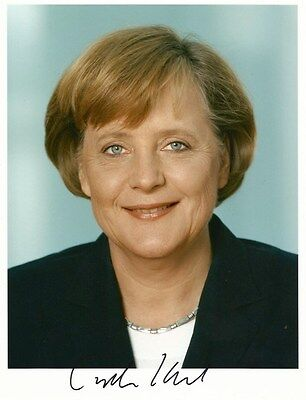 Angela Merkel CHANCELLOR of GERMANY autograph, In-Person signed photo