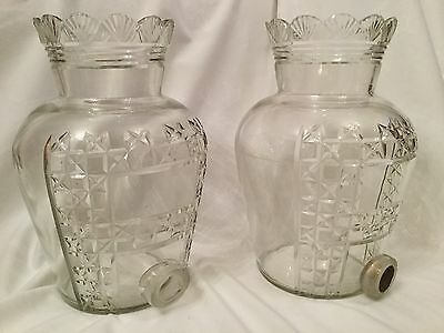 Pair Of Large Victorian Cut Glass Apothecary Chemist Jars