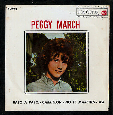 PEGGY MARCH (Little Peggy March).RARE SPANISH EP sung in Italian & spanish