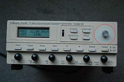 Wavetek Model 23 12Mhz Synthesized Function Generator, Fully tested, Works Great
