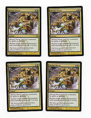 MAGIC THE GATHERING 4x ABRUPT DECAY RETURN TO RAVNICA NMINT/NEAR MINT PLAYSET