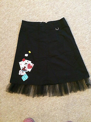 50s style black skirt with motif and lace